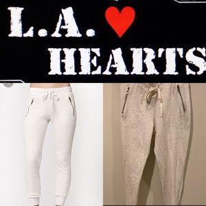 LA Hearts ♥️ casual zipper cropped joggers